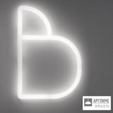 """Artemide1211B00A — Настенный накладной светильник Alphabet of Light W Буква """"B"""" + Support"""