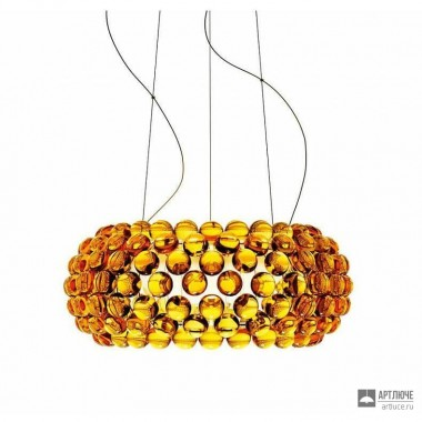 Foscarini138007 52 — Светильник потолочный подвесной Caboche media Giallo oro