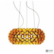 Foscarini138007L 52 — Светильник потолочный подвесной Caboche media LED Giallo oro