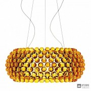 Foscarini138017 52 — Светильник потолочный подвесной Caboche grande Giallo oro