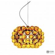 Foscarini138027 52 — Светильник потолочный подвесной Caboche piccola Giallo oro