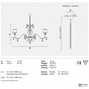 MasieroACANTIA 12 V95 SWAROWSKI — Потолочный подвесной светильник CLASSICA ACANTIA