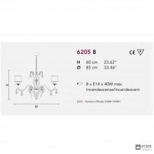 MasieroACANTIA 8 V90 CUT CRYSTAL — Светильник потолочный подвесной CLASSICA ACANTIA