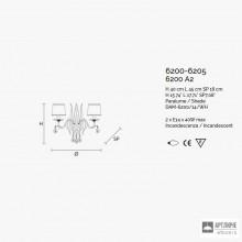 MasieroACANTIA A2 V90 CUT CRYSTAL — Настенный накладной светильник CLASSICA ACANTIA