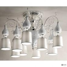 MasieroWHITE GRACE PL10 — Потолочный накладной светильник LUXURY WHITE GRACE PL10